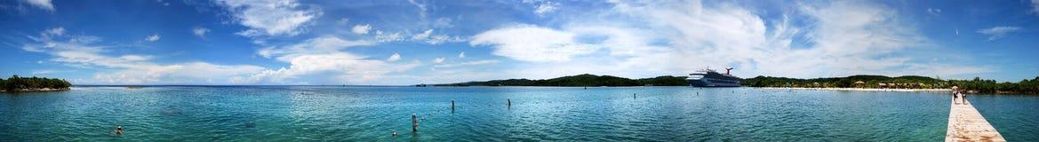 Honduras-Bucht-Panorama stockbild