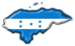 Honduras button flag map shape Stock Image