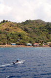 Honduras Coastline with Boat Stock Photos