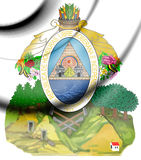 Honduras coat of arms. Royalty Free Stock Images