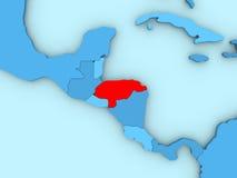 Honduras on 3D map Royalty Free Stock Photography