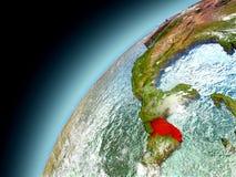 Honduras de la órbita de Earth modelo Foto de archivo