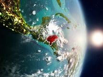 Honduras durante o nascer do sol Fotografia de Stock Royalty Free