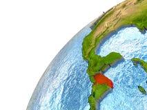 Honduras on Earth Royalty Free Stock Image