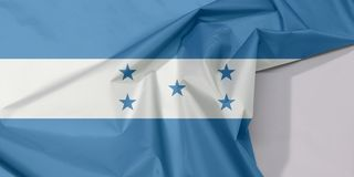 Honduras fabric flag crepe and crease with white space. Honduras fabric flag crepe and crease with white space, A horizontal triband of blue and white with five stock images