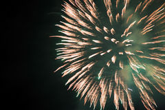 Honduras Fireworks. Fireworks in the night sky at Tegucigalpa, Honduras Royalty Free Stock Photo