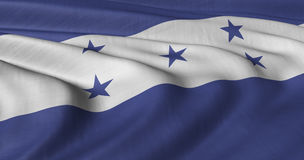 Honduras Flag. Flag of Honduras fluttering in light wind Stock Images