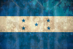 Honduras flag in grunge effect Royalty Free Stock Photography