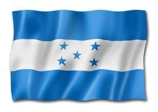 Honduras flag isolated on white. Honduras flag, three dimensional render, isolated on white vector illustration