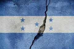 Honduras FLAG PAINTED ON CRACKED WALL cool. Honduras FLAG PAINTED ON CRACKED WALL stock photo
