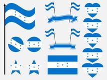 Honduras flag set symbols, flag in heart. Vector. Illustration Royalty Free Stock Photography