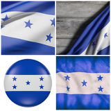 Honduras flag waving Royalty Free Stock Photos