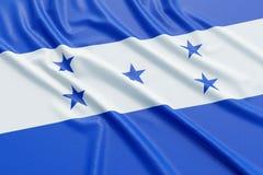 Honduras flag. Wavy fabric high detailed texture. 3d illustration rendering Stock Photo