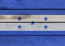 Honduras flag on a wood Stock Photography