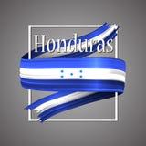 Honduras flaga Oficjalni obywatelów kolory Honduras 3d realistyczny faborek Falowanie chwały flaga lampasa wektorowy patriotyczny royalty ilustracja