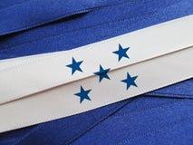 Honduras flagga eller baner Arkivfoto
