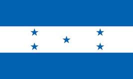 Honduras-Flagge lokalisierte Vektor in den offiziellen Farben und im Anteil Stockfotos