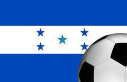 Honduras fotbollflagga Royaltyfria Bilder