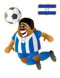 honduras futbolowa maskotka royalty ilustracja