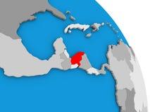 Honduras on globe Royalty Free Stock Images