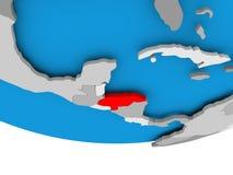 Honduras on globe. Honduras on 3D model of political globe. 3D illustration Stock Photo