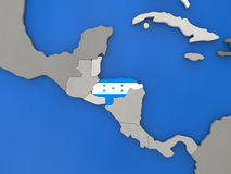 Honduras on globe Royalty Free Stock Photography