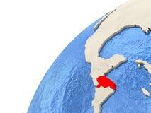 Honduras on globe Stock Images