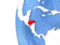 Honduras on globe Stock Image