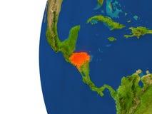 Honduras on globe Stock Photo