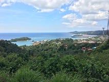 Honduras. Good point of view, from a place of roatan, honduras Stock Photos