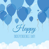 Honduras Independence Day Flat Greeting Card. Stock Photography