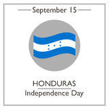 Honduras Independence Day, September 15. Vector illustration for you design, card, banner, poster and calendar Stock Images
