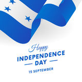 Honduras Independence Day. 15 September. Waving flag. Vector. Stock Image