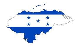 honduras Kaart van de vectorillustratie van Honduras Patriottische kaart Hondu Royalty-vrije Stock Afbeelding