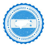 Honduras-Karte und -flagge im Weinlesestempel von Lizenzfreie Stockbilder