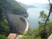 El cajon dam in Honduras. Honduras main dam courtain el cajon sunny midday in Cortes department Royalty Free Stock Photography