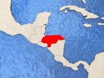 Honduras on map Royalty Free Stock Image