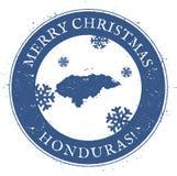 Honduras mapa Roczników Wesoło boże narodzenia Honduras royalty ilustracja