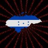 Honduras mapy flaga na czerwonej hex kodu wybuchu ilustraci Zdjęcie Stock