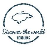 Honduras mapy kontur Rocznik Odkrywa świat ilustracja wektor