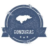 Honduras mark. Travel rubber stamp with the name and map of Honduras, vector illustration. Can be used as insignia, logotype, label, sticker or badge of the Royalty Free Stock Images