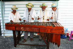 Honduras musicians. A band of traditional musicians on the island of roatan in honduras.january 2008 Royalty Free Stock Photography