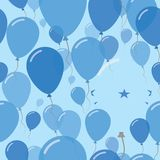 Honduras National Day Flat Seamless Pattern. Flying Celebration Balloons in Colors of Honduran Flag. Happy Independence Day Background with Flags and Balloons Stock Images