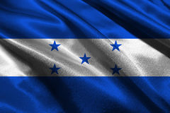 Honduras national flag 3D illustration symbol. Country in central america Royalty Free Stock Images