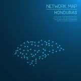 Honduras network map. Abstract polygonal map design. Internet connections vector illustration Stock Photo