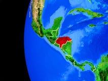 Honduras od przestrzeni ilustracja wektor