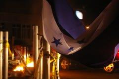 Honduras protest Dicember i tegucigalpa Arkivfoto
