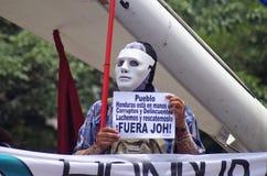 Honduras protest mot korruption och omvalet oj Juan Orlando Hernandez 2018 september royaltyfria bilder