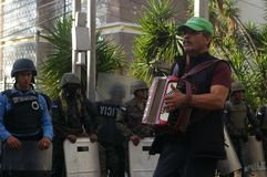 Honduras protesta 21 de diciembre - Tegucigalpa 2017 Honduras 3 Fotos de archivo libres de regalías