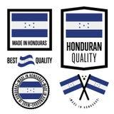 Honduras quality label set for goods Royalty Free Stock Photos